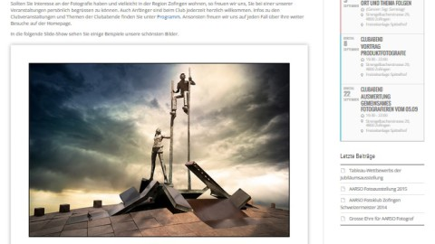 Die neue Website des AARSO Fotoklub Zofingen ist online